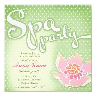 GC Spa Party Lotus Card