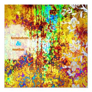 GC   Sunken Treasure   Vibrant   Flower 13 Cm X 13 Cm Square Invitation Card