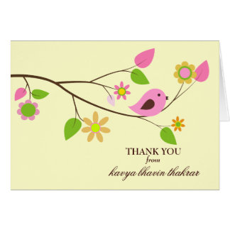GC  | Sweet Bird Thank you Card