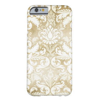 GC Tan Cream Vintage Damask Barely There iPhone 6 Case