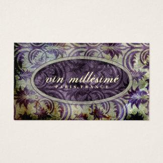 GC Vin Millésimé Golden Purple Darker Center Business Card