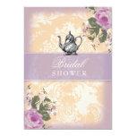 "GC Vintage Bridal Shower Tea Party 5"" X 7"" Invitation Card"