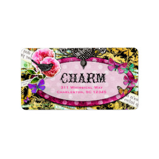 GC Whimsical Vintage Charm Pink Bee Label
