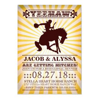 GC Yeehaw Rowdy Rodeo Rehearsal Yellow 13 Cm X 18 Cm Invitation Card
