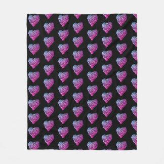 GCI's Purple Herb Heart Fleece Blanket