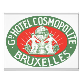 Gd Hotel Cosmopolite Bruxelles, Vintage Personalized Flyer