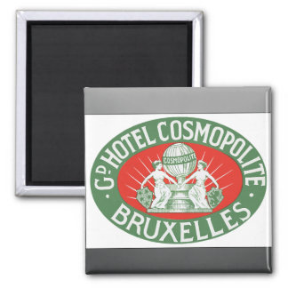 Gd Hotel Cosmopolite Bruxelles Vintage Refrigerator Magnet