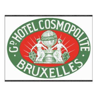 Gd Hotel Cosmopolite Bruxelles, Vintage Postcard