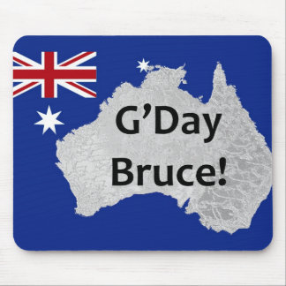 G'Day Bruce Australian Logo Mousepad