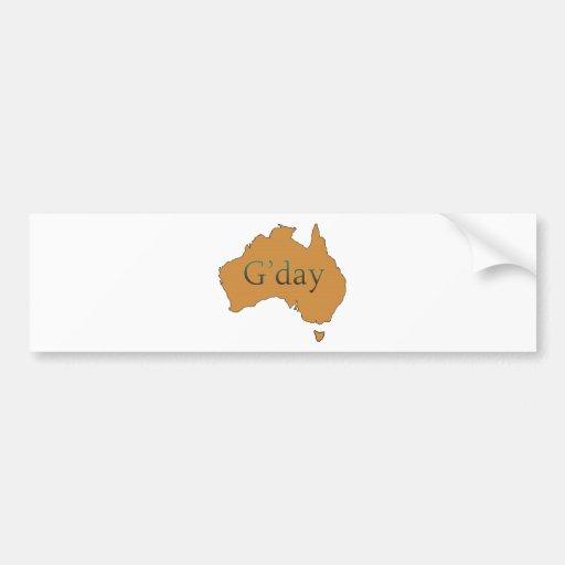 G'day Bumper Sticker