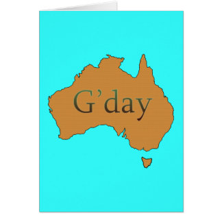G'day Greeting Card