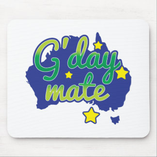 G'DAY Mate Australian Greeting hello Mouse Pad