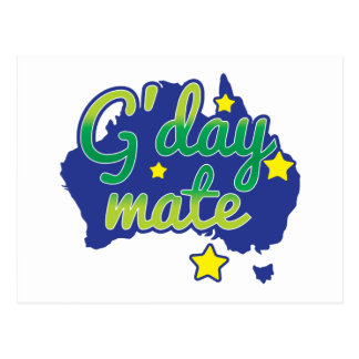 G'DAY Mate Australian Greeting hello Postcard