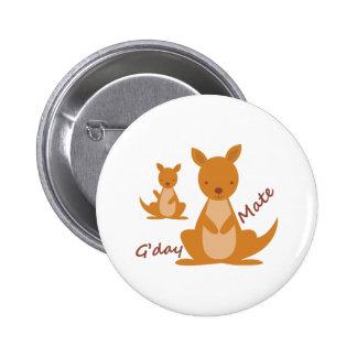 Gday Mate 6 Cm Round Badge
