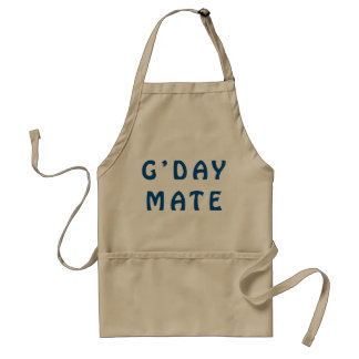 Gday Mate Blue Aprons