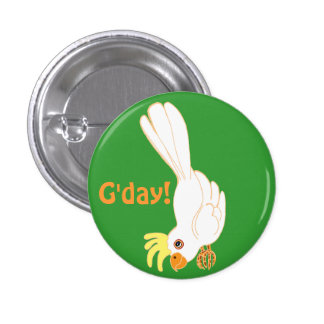 G'day says Aussie galah 3 Cm Round Badge