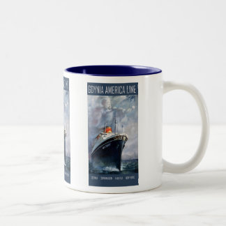 Gdynia America Line Two-Tone Coffee Mug