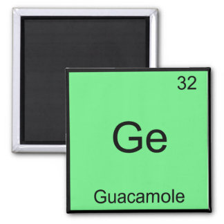 Ge - Guacamole Funny Chemistry Element Symbol Tee Magnet