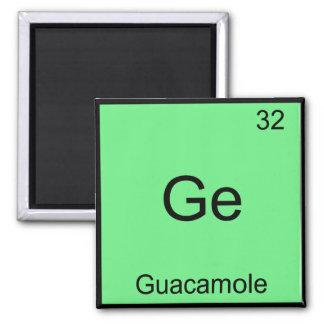 Ge - Guacamole Funny Chemistry Element Symbol Tee Fridge Magnet
