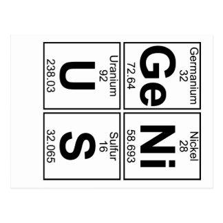 Ge-Ni-U-S (genius) - Full Postcard