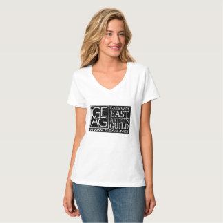 geag logo ladies v neck tshirt
