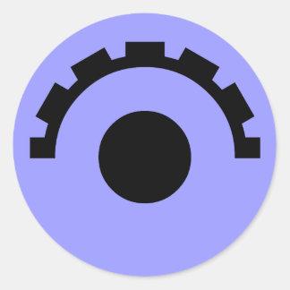Gear Eye Classic Round Sticker