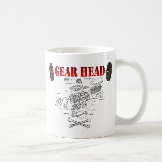GEAR HEAD BASIC WHITE MUG
