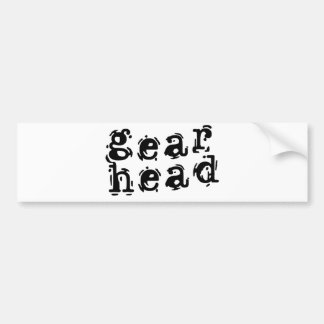 Gear Head Bumper Sticker