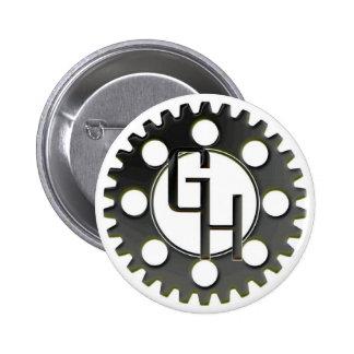 Gear Head Logo Button