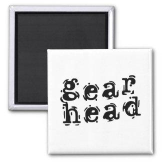 Gear Head Square Magnet