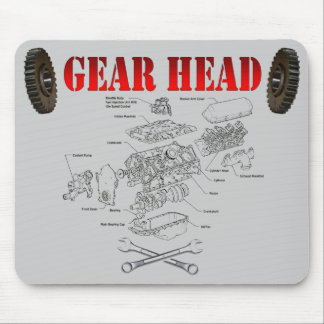 GEAR HEAD MOUSE PADS