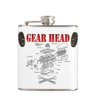 GEAR HEAD HIP FLASKS