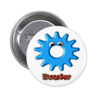Gear Heads Monster Pinback Button