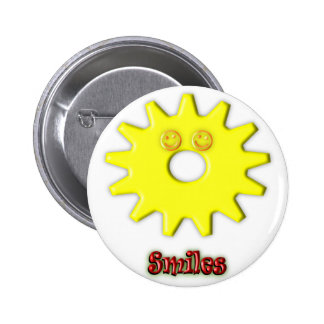 Gear Heads Smiles Pinback Buttons