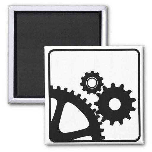 gear mechanical wheels icon technology settings magnet