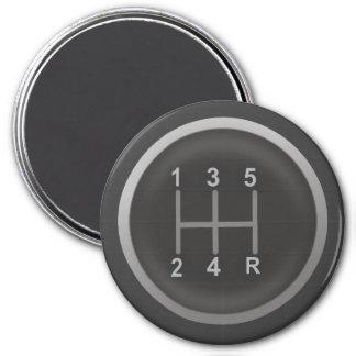 Gear Shift Knob for Nerd Geeks 7.5 Cm Round Magnet