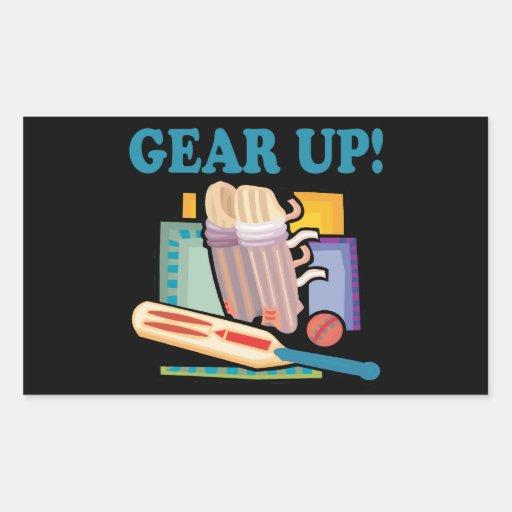 Gear Up Rectangle Sticker