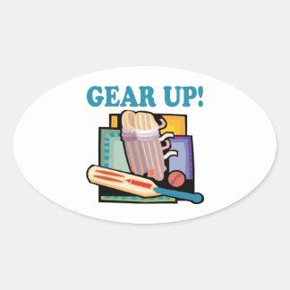 Gear Up Oval Sticker