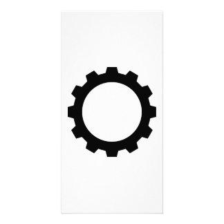 Gear wheel personalised photo card