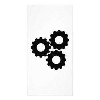 Gear wheels custom photo card