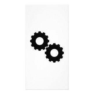 Gear wheels picture card