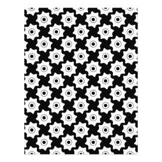 Gear wheels seamless pattern 21.5 cm x 28 cm flyer
