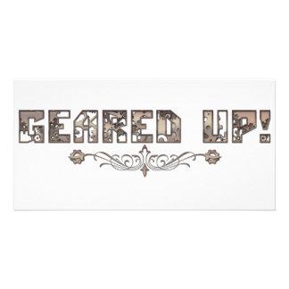 Geared up cards custom photo card