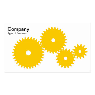 Gears - Amber on White Business Cards