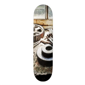 Gears and Wrenches in Machine Shop Skate Board Deck