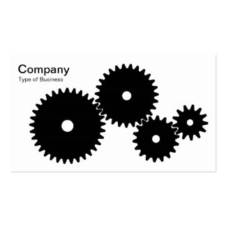 Gears - Black on White Business Card Templates