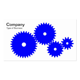 Gears - Blue on White Business Card Templates