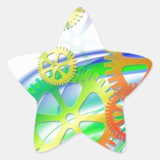 Gears Clock Grunge Rust Destiny Gifts Star Sticker