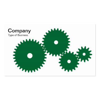 Gears - Forest Green on White Pack Of Standard Business Cards