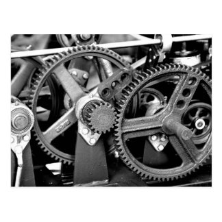 GEARS IN BLACK & WHITE POSTCARD